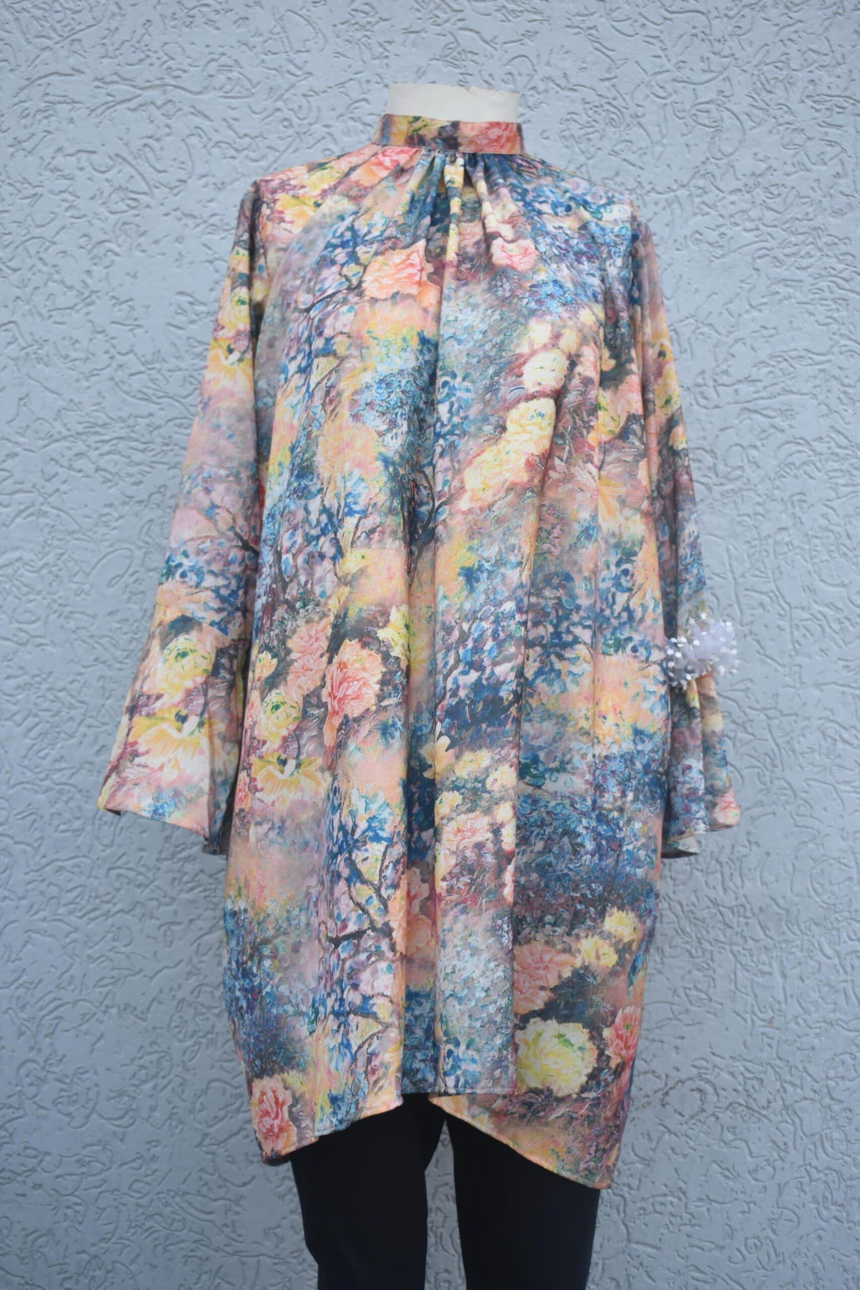 Silk shamose printed style