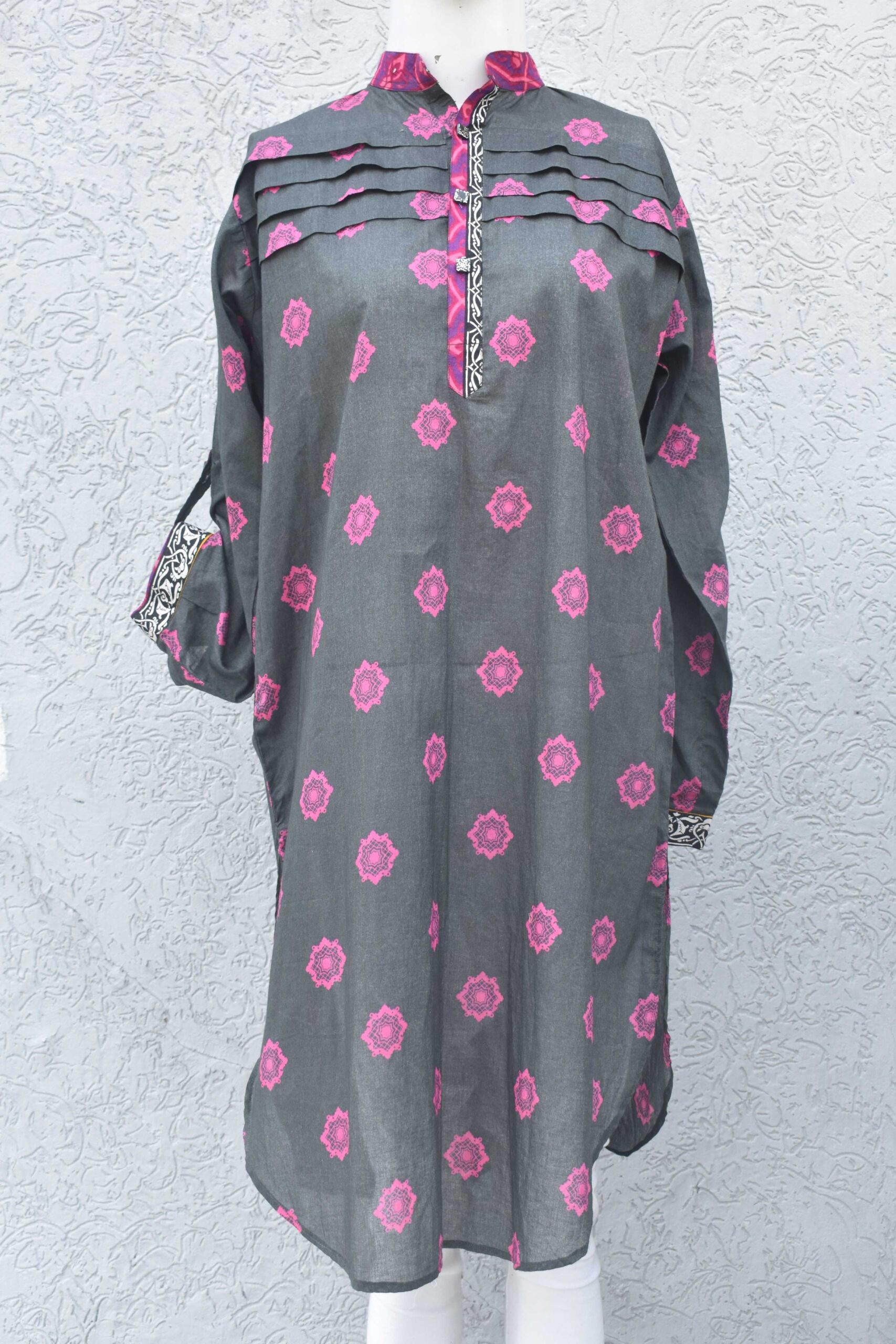 Printed lawn Kurti with pleats