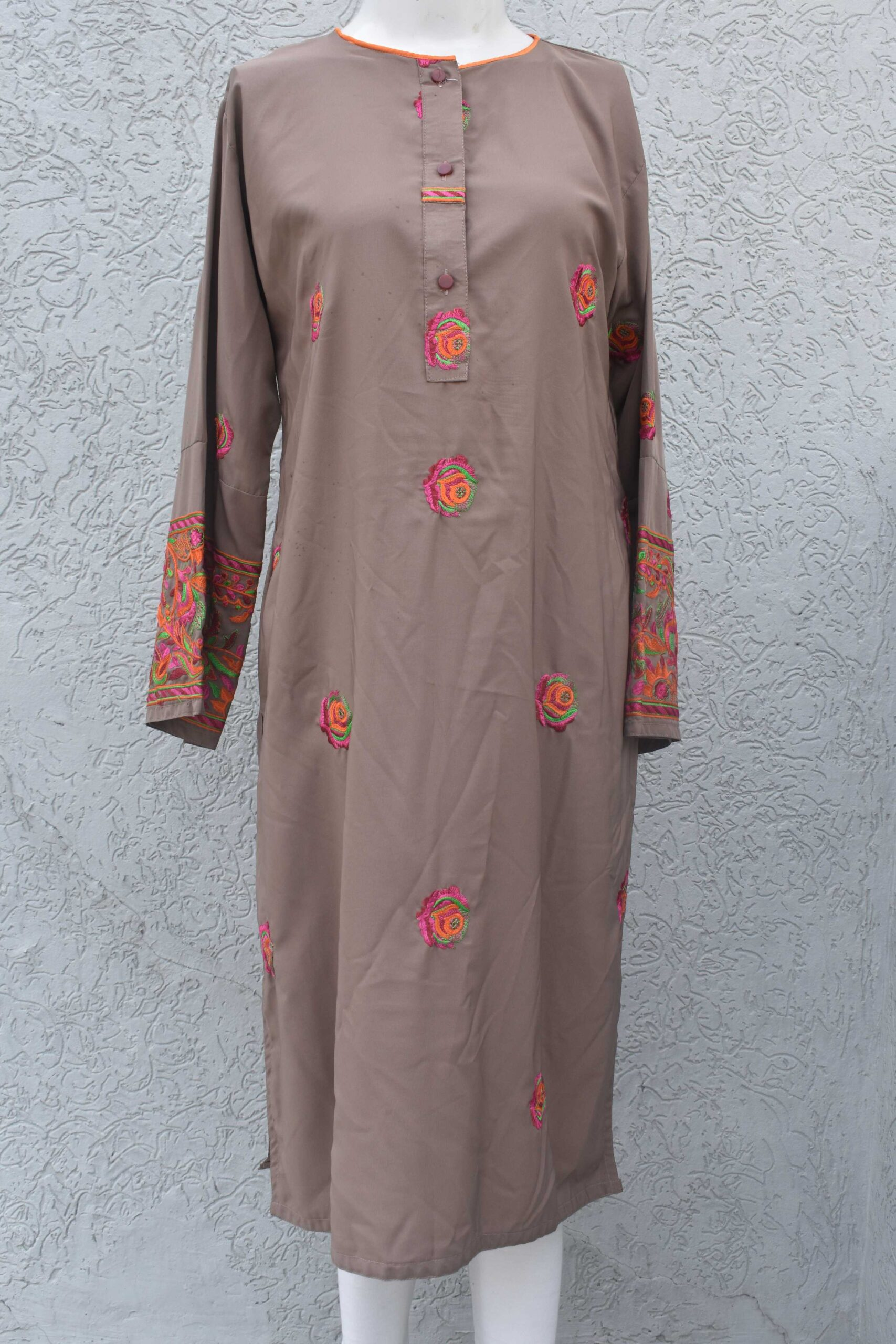 Georgette Kurti with embroidery