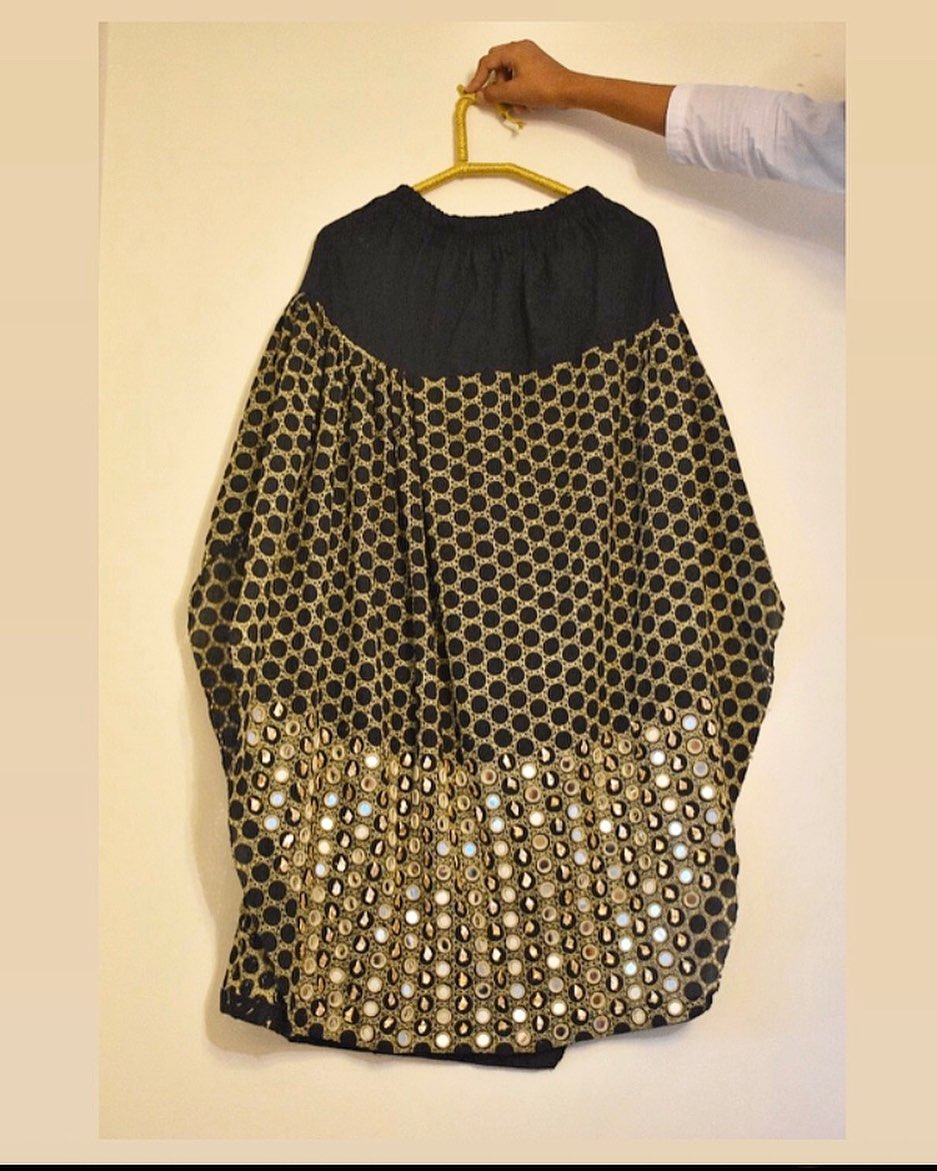 gota and mirror work shalwar