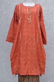red fox orange kurta