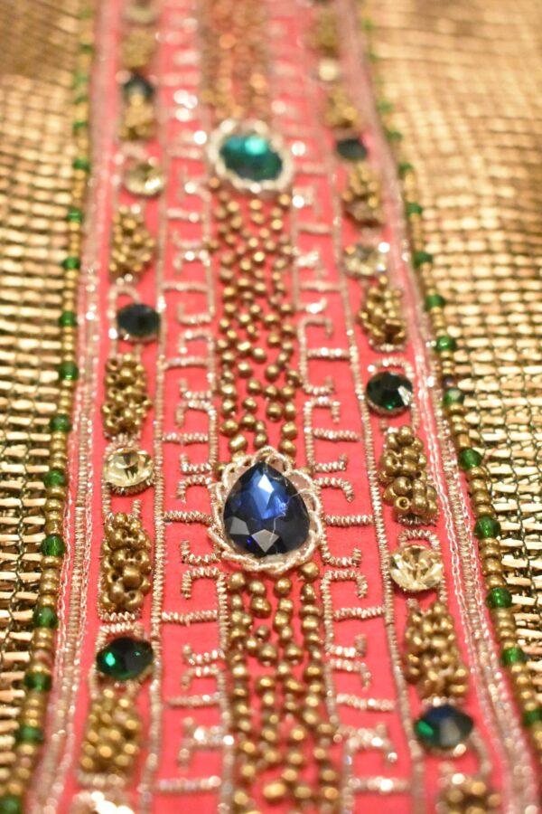 peacock glossy net