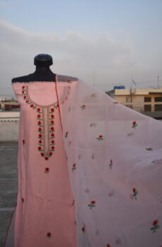 hand embroidered dupatta 2 pc